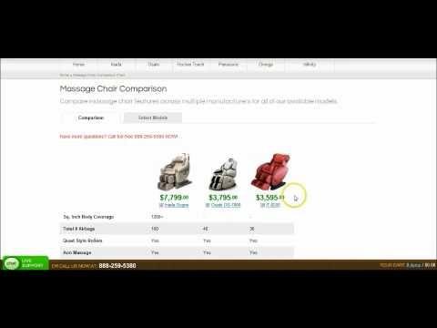 (63) Massage Chair Comparison Chart - YouTube
