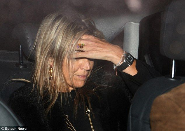 The Argentine born Queen of The Netherlands looked emotional as she left the home of her mother Maria Del Carmen Cerruti in Buenos Aires following the death of her father Jorge Zorreguieta.