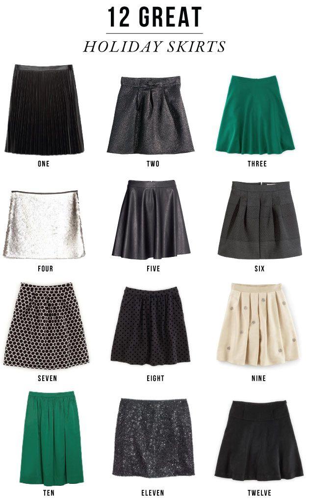12 great holiday skirts / jones design company
