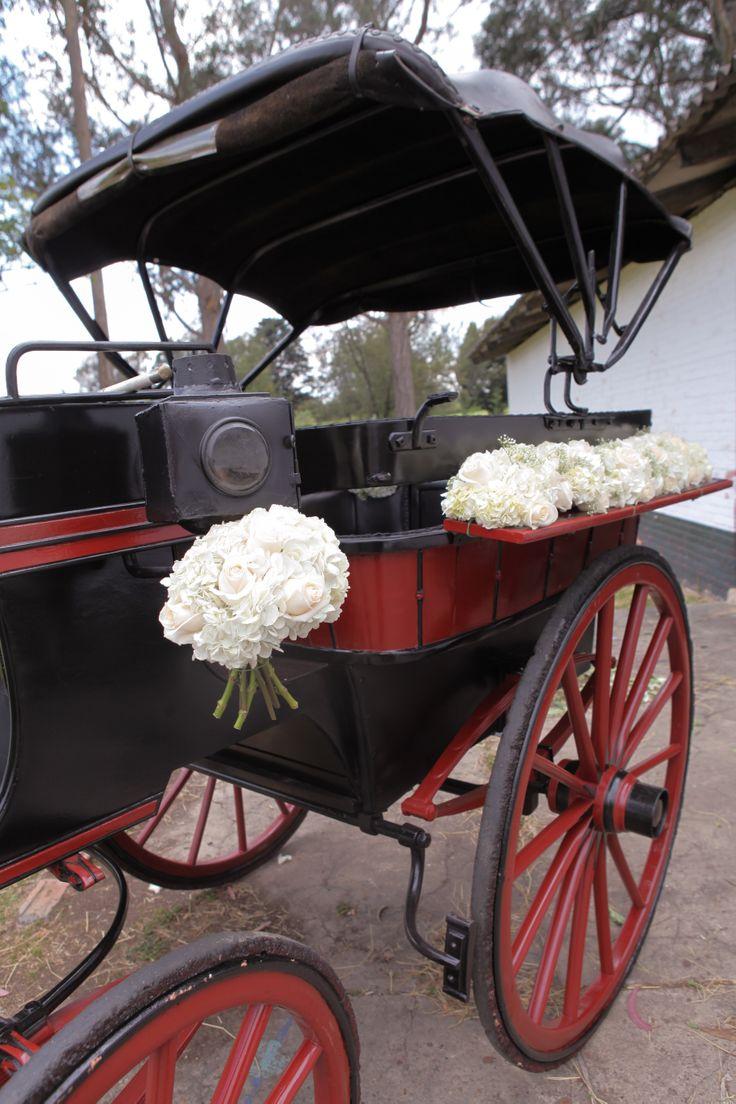 wedding car decoration, carriage.