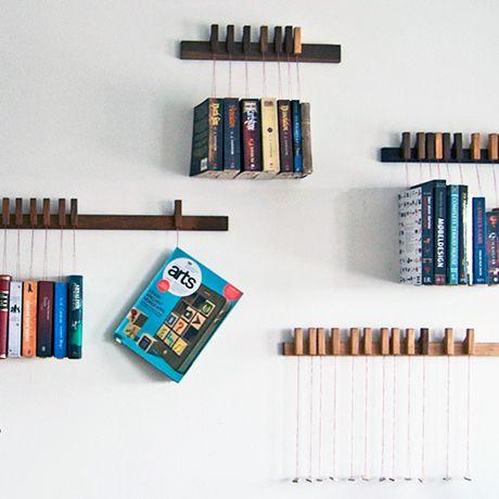 Wooden hanging bookshelves by agustav | MONOQI