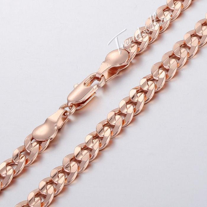 Индивидуальные 5 ММ Женщин Людей Ожерелья Цепи Круглый Cut Снаряженная Кубинский Ожерелье Из Розового Золота Заполненные Ожерелье Ювелирные Изделия GN230