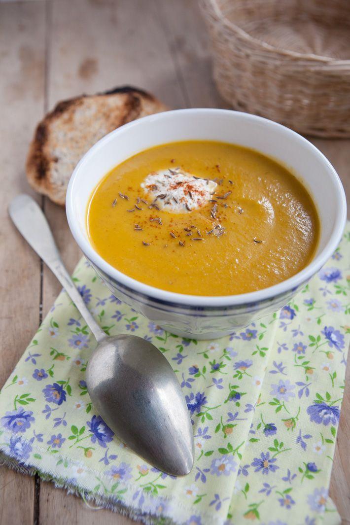 Velouté de carottes au boursin / Carrots soup