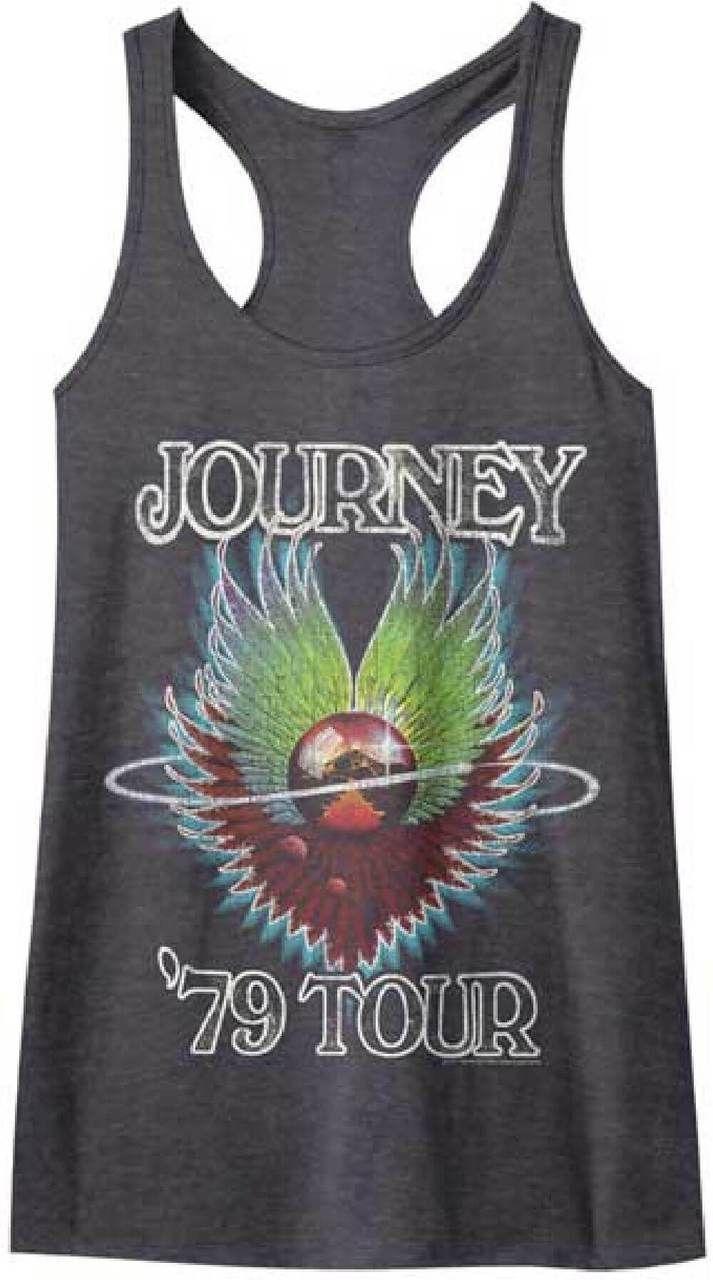 Black flag t shirt vintage - Journey Women S Vintage Concert T Shirt Journey 1979 Tour Charcoal Gray Tank Top Shirt