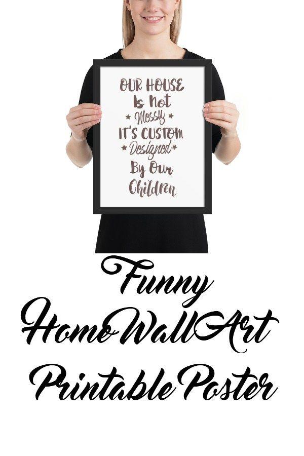 Funny Living Room Family Room Printable Wall Art Printable Wall Art Living Room Poster Home Wall Art