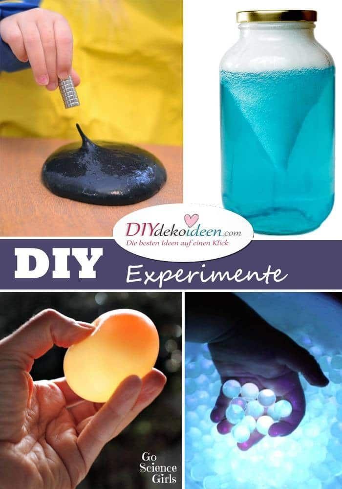 Hier gibt es die schönstenDIY Experimente mit Kindern!  Verschiedene DIY Experimente mit Kindern sorgen nicht nur für einen Spaßfaktor, sondern helfen