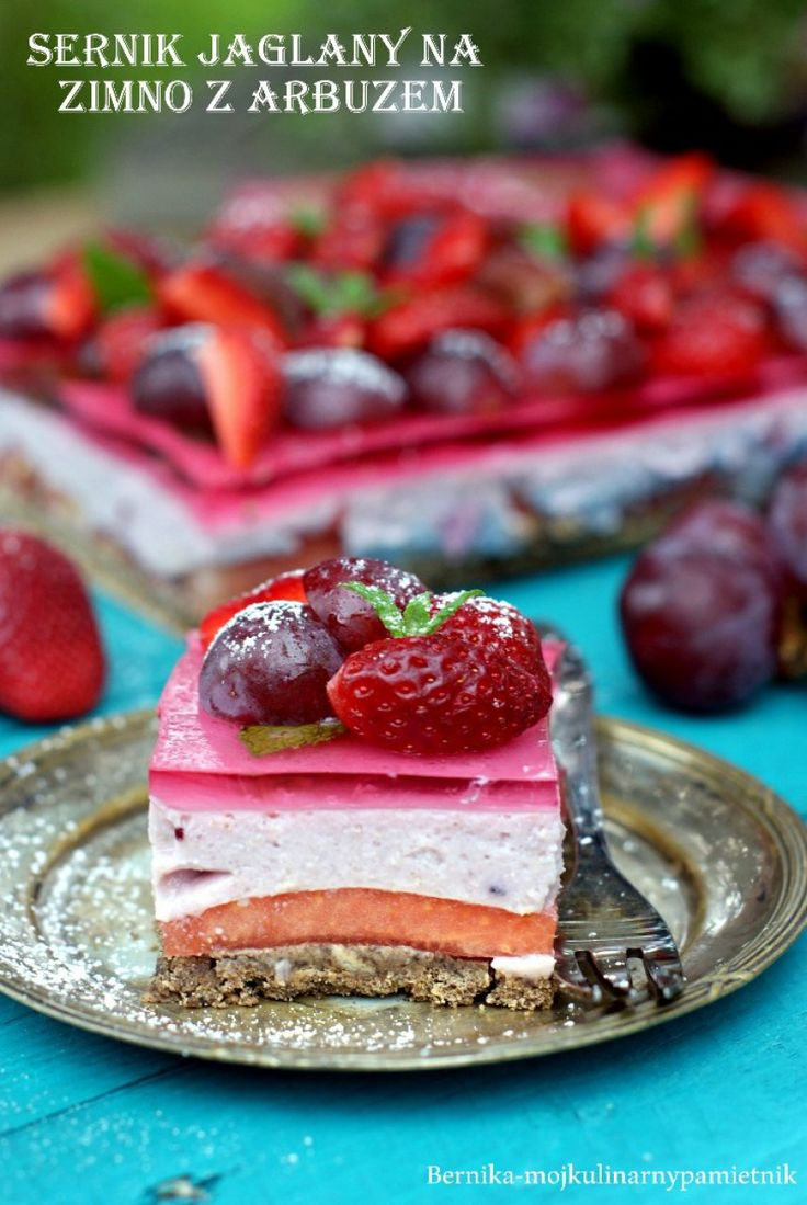 millet cake with watermelon