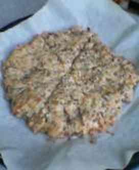 全粒粉100% 捏ねないピッツア風スナックパン