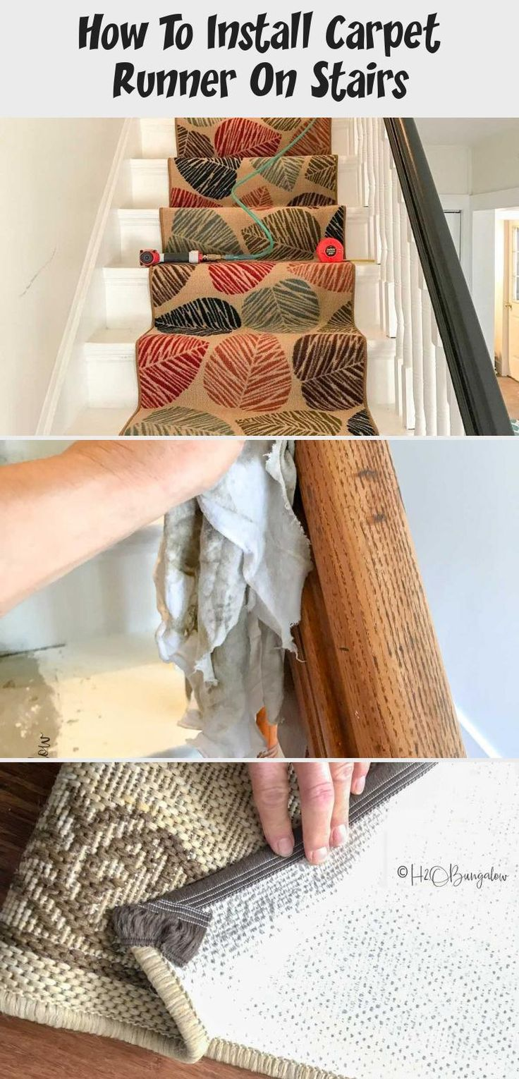 How To Install Carpet Runner On Stairs in 2020 Stair