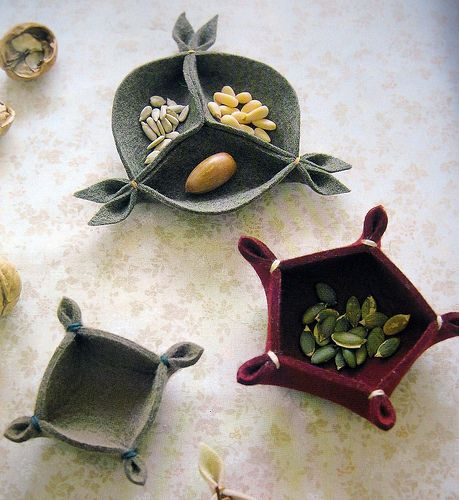 small things for daily life made of felt by feltcafe