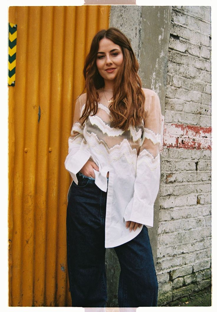 The Petite Girl's Guide To Wearing Oversized Clothing #refinery29  http://www.refinery29.com/how-to-wear-oversized-clothing#slide-5  When loose, this dress shirt almost touches my knees. But despite the extra-large finish (and the equally as oversized, very '90s denim), I still feel (and look) extra-polished. Nafasika Skourti top; Marques'Almeida pants....