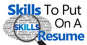 A comprehensive explanation of how to include great skills on your resume. How to pick the right skills depending on the job. List of resume skills included.