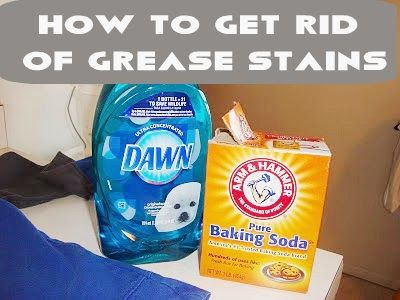 Amazing! how to get rid of Grease stains only 2 ingredients!
