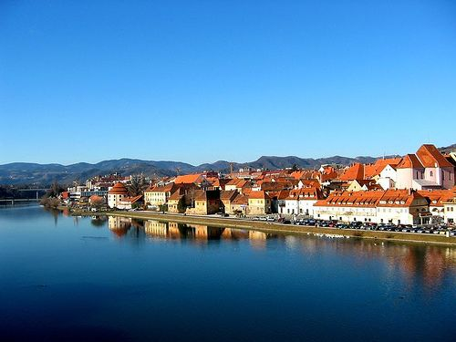 Maribor and the river Drava