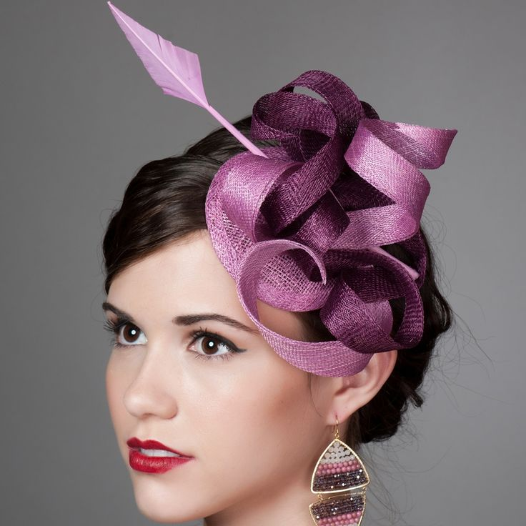 Sinamay Fascinator Cocktail Hat With Arrow Quill