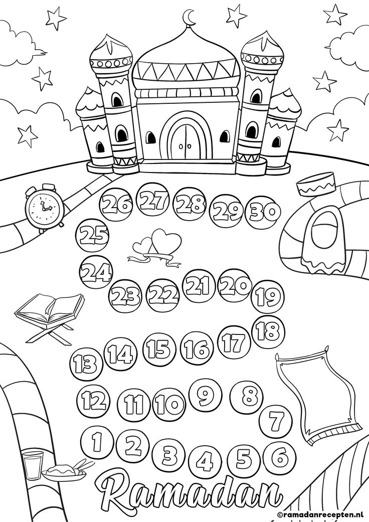 ramadan coloring pages printable - photo#24