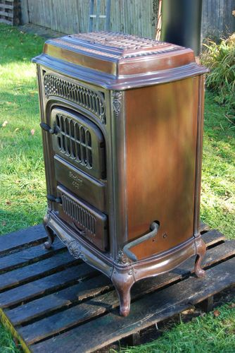 Vintage Sterling 403 Porcelain Coal and Wood Parlor Stove