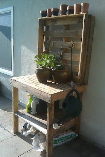 We built our own pallet workbench for the garden this weekend. bkhowland