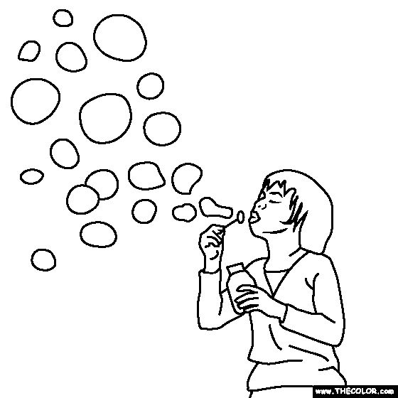 Blowing Bubbles Coloring Page   Polar Bear Pattern ...
