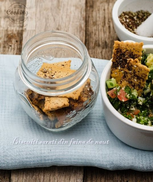 Gluten free, chickpea flour crackers/ Biscuiti sarati din faina de naut, cu za'atar