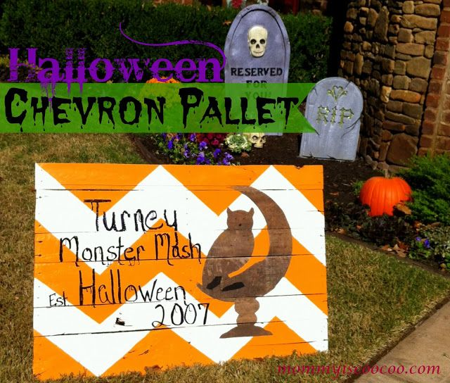 mommy is coo coo: Chevron Stripe Halloween Pallet Sign