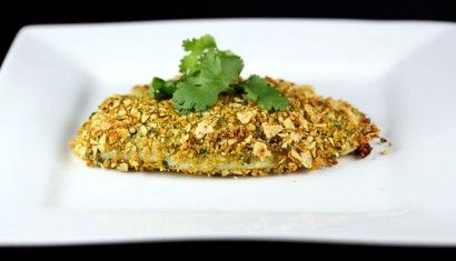 chip crusted tilapia...great way to use up all the crumbs in the bottom of the bag!