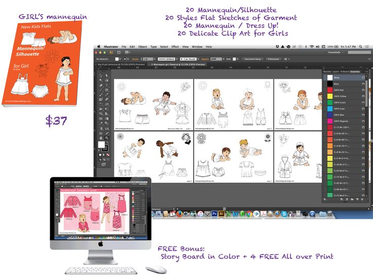 382 best illustrator fashion templates free images on Pinterest ...