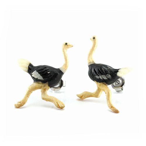 Ostrich Earrings by Urban Star