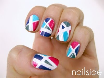 nail art: Nails Art, Perry Mani, Katy Perry, Mani Nails, Vibrant Colors, Broken Glasses, Cool Design, Stripes Nails, Bright Colors
