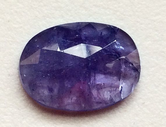 1 Pc Tanzanite Cabochon Natural Tanzanite Faceted by gemsforjewels