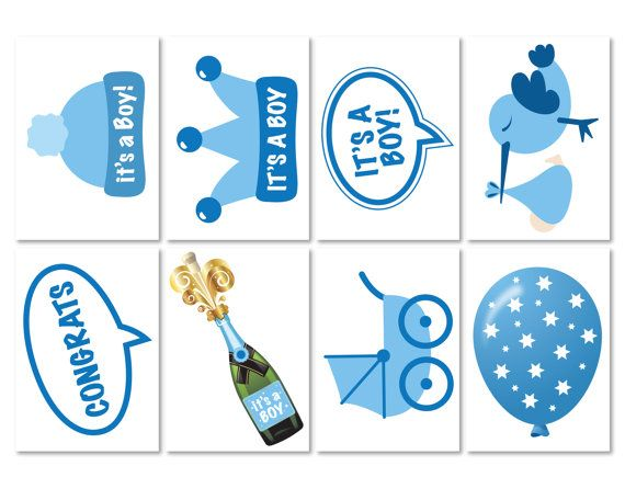 Baby Shower Photo Props It's a Boy Photo Booth Props