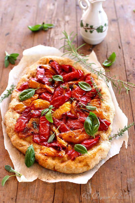 Pizza aux poivrons | Un déjeuner de soleil