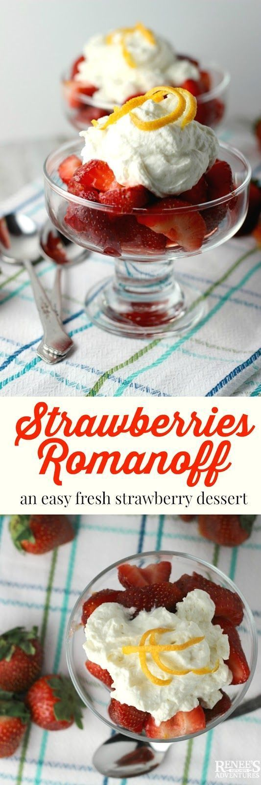Strawberries Romanoff | Renee's Kitchen Adventures - easy recipe for a ...