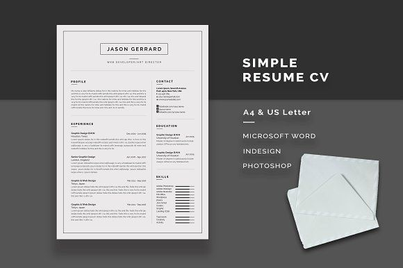 Resume/CV by Elegant-Design on @creativemarket