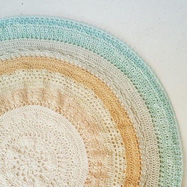hookybren crochet circle throw