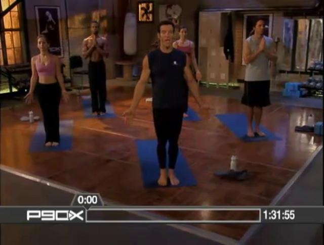 P90X Yoga.  This is a hard one, and, totally worth the time.  I've seen great results walking 5 miles a day and doing this 2-3 times a week.