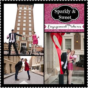 Sweet and sparkly engagement pictures