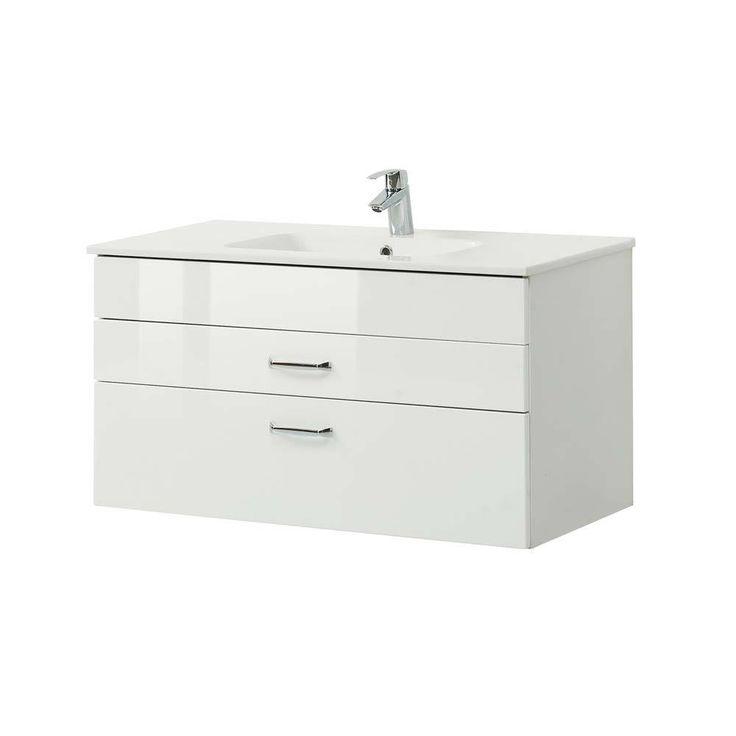 Waschbeckenunterschrank in Hochglanz Weiß 100 cm Jetzt bestellen unter: https://moebel.ladendirekt.de/bad/badmoebel/unterschraenke/?uid=e9292859-26c5-54bd-9718-0ff940098316&utm_source=pinterest&utm_medium=pin&utm_campaign=boards #waschtischunterbau #unterschraenke #waschschrank #badezimmerkommode #beis #bad #waschtischkonsole #waschbeckenunterschrank #badezimmerschrank #schrank #badschrank #badmoebel #waschbeckenschrank #waschtischunterschrank #waschtisch #badeschrank #waschkommode…