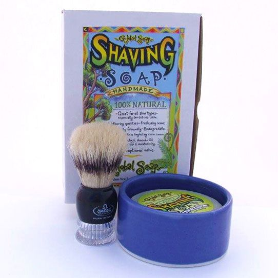 Shaving Kit made by Global Soap in Nelson, New Zealand.