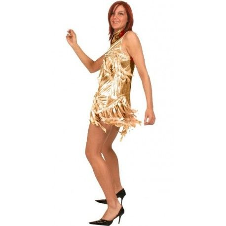 Déguisement Disco Robe Or Femme