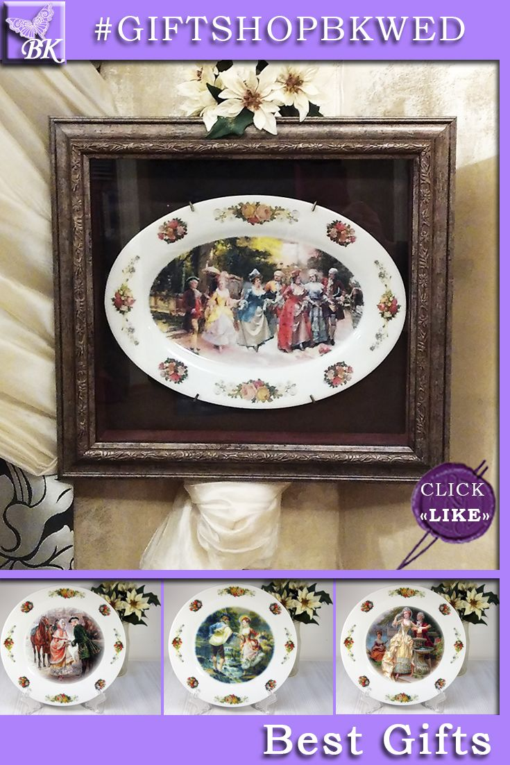 """Italian painter Cesare Auguste Detti -""""THE CASTLE GARDEN"""". Pastoral """" series  is ideal for gift.  Our porcelain plates are ideal for interior and will look great in your collection!   #giftshopbkwed #decor #home #accessory #gift #porcelain #picture #print #accessories #walldecor #plates #homedecor #shabbychic #frenchstyle"""