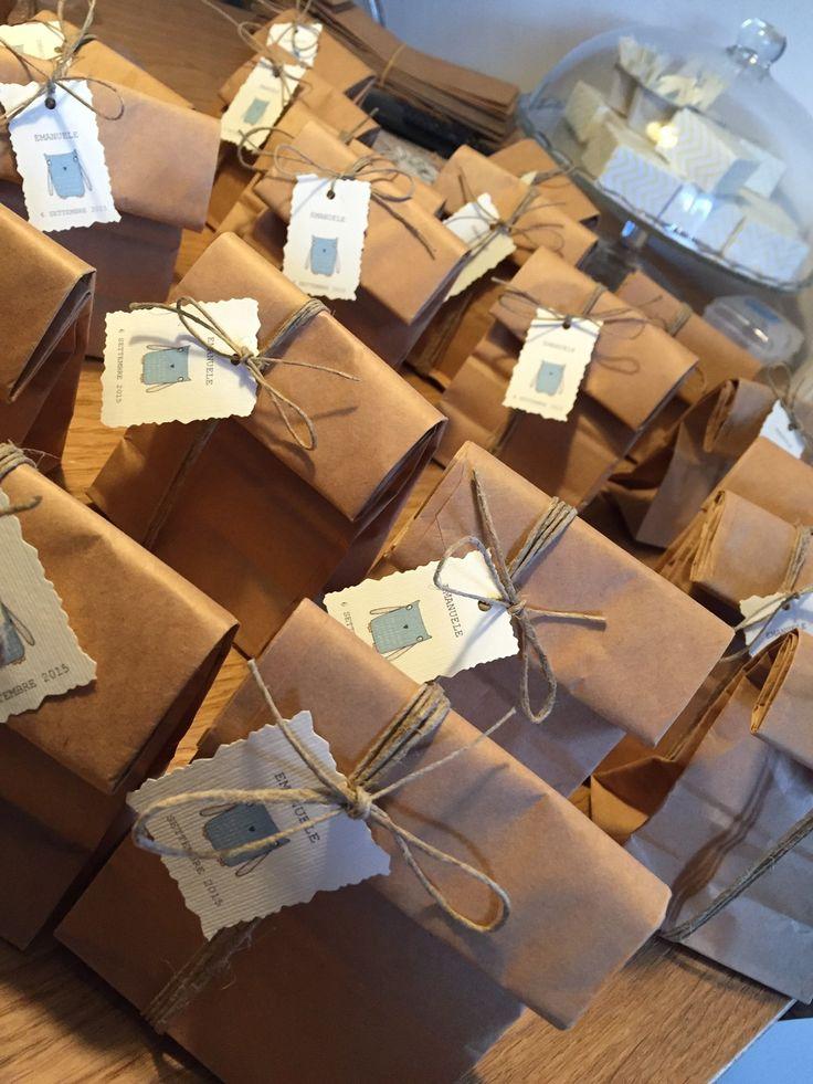 KIT per sacchetti confetti kraft