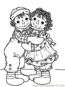 Raggedy Ann & Andy... lots of other poses here, too.