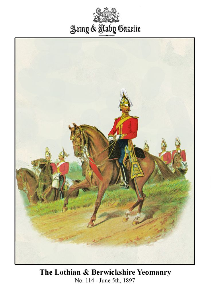 British; The Lothian & Berwickshire Yeomanry, c.1895 by R.Simkin