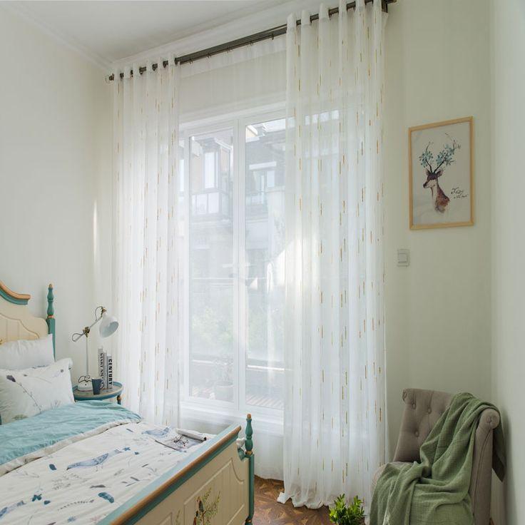 Moderne Gardine Mit Bunter Regentropfen Design Koreanischen Stil In    Gardine Wohnzimmer Modern