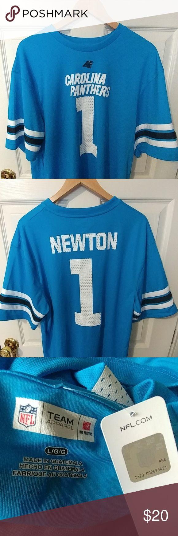 Cam Newton Carolina Panthers T shirt Jersey Mesh (light weight) Panthers T shirt Jersey Nike Shirts Tees - Short Sleeve