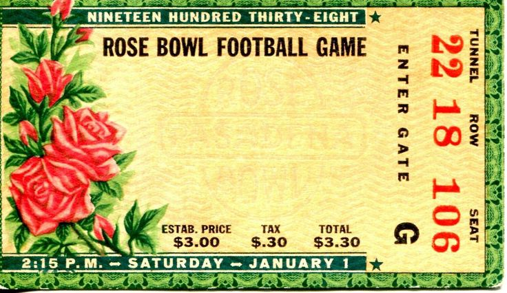 A distant relative's ticket to the 1938 Rose Bowl Game. http://ift.tt/2yDkVSy