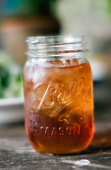 Ice Cold Southern Sweet Tea In A Mason Jar Summer Or