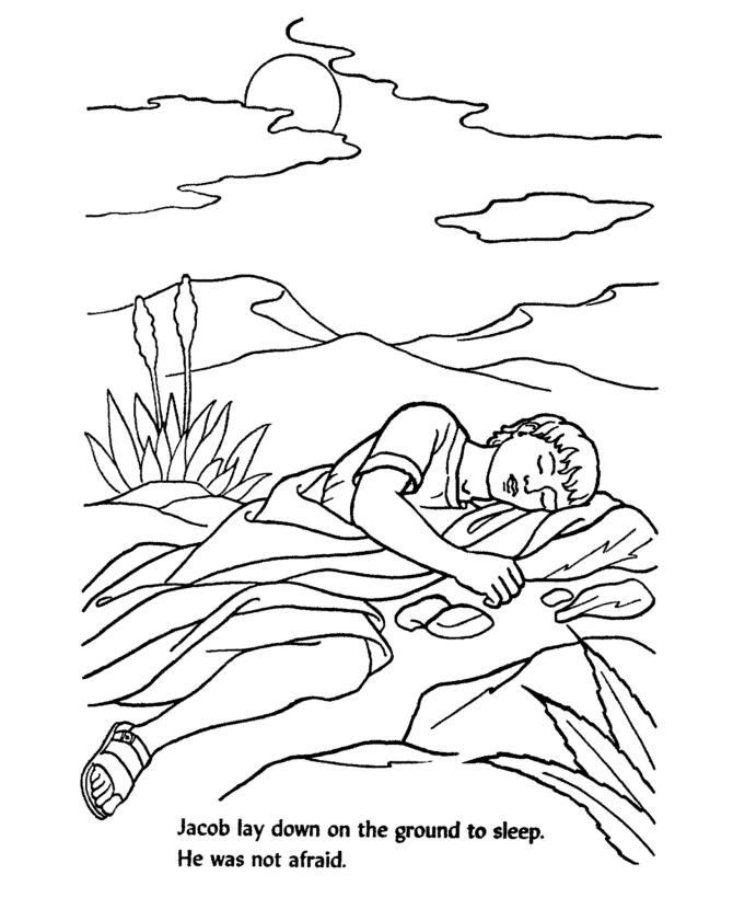 Bible Jacob slept on the ground with a stone as a pillow