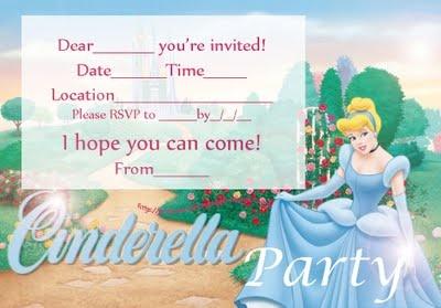 free printable Cinderella invitation | Princess Party | Pinterest | Free printable, Cinderella ...